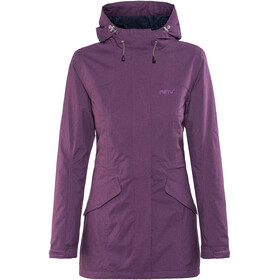 Meru Kristianstad Waterproof Padded Coat Women Deep Purple Melange